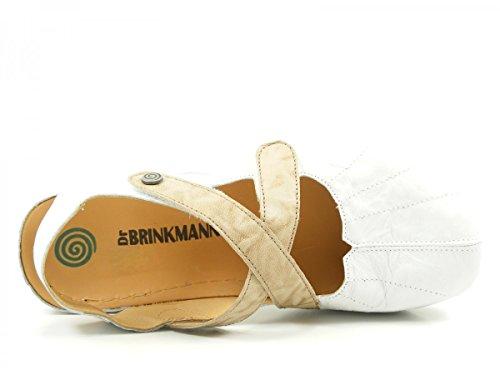 Dr. Brinkmann 710680 - Zuecos de cuero mujer Weiß