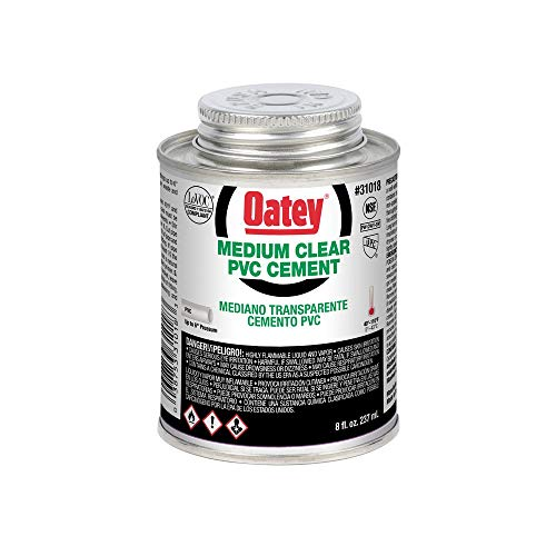 Oatey 31018 Hydraulic Cements, 8 oz, - Solvent Pvc
