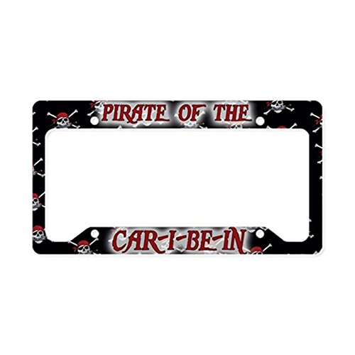 pirate license plate frame - 2