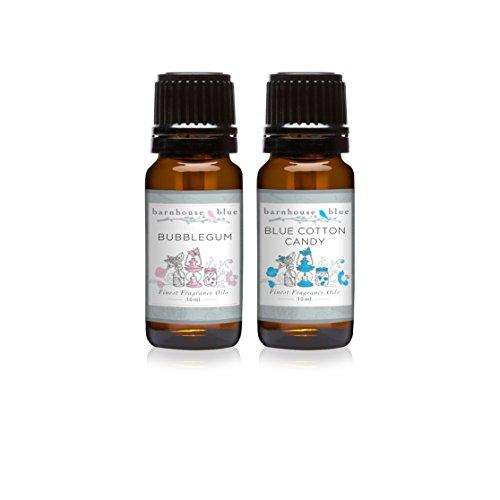 Pair (2) - Barnhouse Blue - Blue Cotton Candy & Bubble Gum - Premium Fragrance Oil Pair - - Glasses Bubblegum