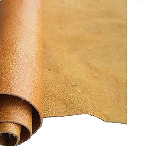 Deerskin Leather Hide - REED LEATHER HIDES - COW SKINS VARIOUS COLORS & SIZES (8 inches X 11 Inches, CAMEL)