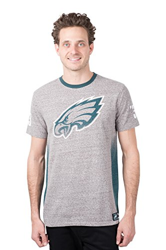 (ICER Brands NFL Philadelphia Eagles Men's T-Shirt Vintage Ringer Short Sleeve Tee Shirt, Medium, Gray)