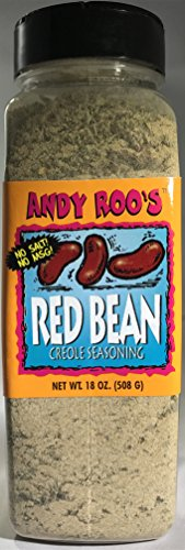Cajun Small Red Beans - Andy Roo's Red Bean Creole Seasoning (No Salt, No MSG), 18 Ounce Bulk Shaker