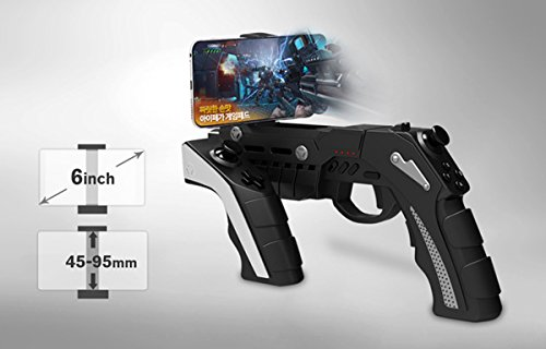 IPEGA PG-9057 Gun Style Wireless Bluetooth Game Controller Joysticker Gamepad Handset for Android iOS Tablet TV - Wireless Gun