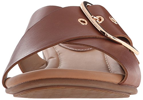 Clarks Viveca Gwen vestido de la sandalia Nutmeg Leather