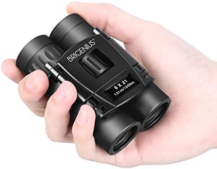 BRIGENIUS Opera Glasses, 8×21 Small Binoculars for Opera Concert Theater, Compact Lightweight Mini Pocket Folding Binoculars for Outdoor Sports Games Travel Hiking Bird Watching Adults Kids