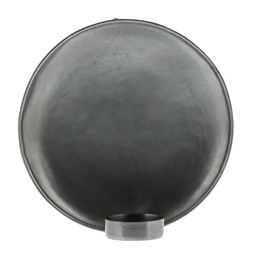 My Swanky Home Minimalist Vintage Style Round Zinc Silver Wall Sconce | 7