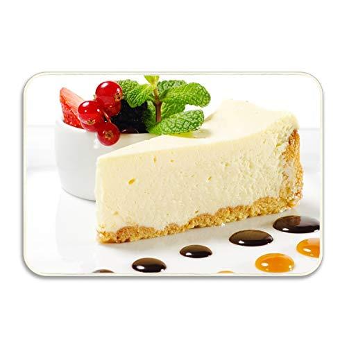 FunnyLife Stylish Cheesecake Mint Berries Welcome Super Absorbent Anti-Slip Mat,Funny Doormat,Indoor/Outdoor Decor Rug Doormat 16x24 inch Non-Slip Home - Mint Cheesecake