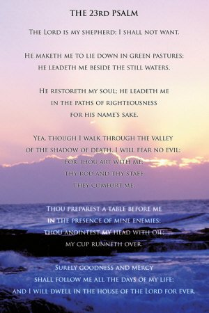 23rd Psalm Poster Print, 24×36