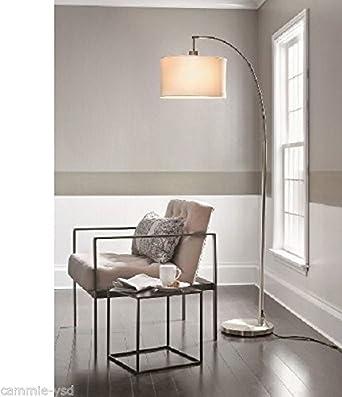 threshold arc floor lamp brushed silver - Silver Floor Lamp