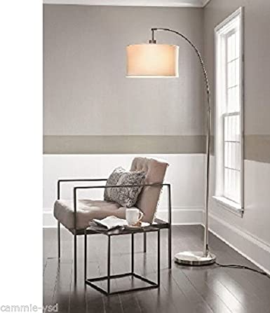Superb Threshold Arc Floor Lamp Brushed Silver