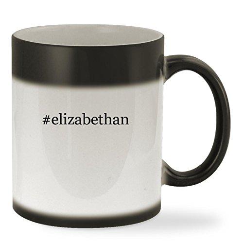 #elizabethan - 11oz Hashtag Color Changing Sturdy Ceramic Coffee Cup Mug, Black