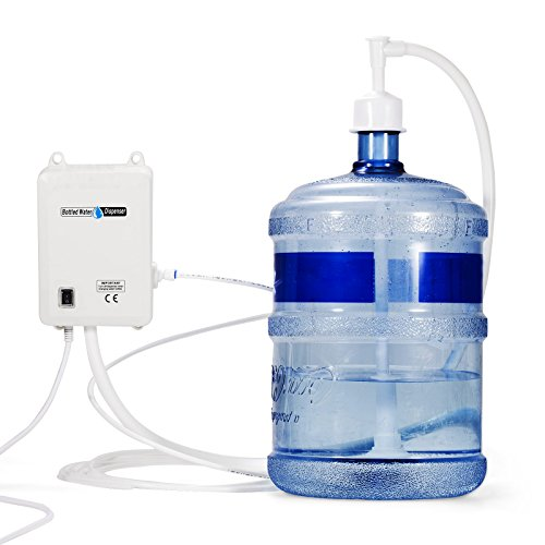 Water Dispensing System (Popsport 1 Gallon Bottled Water Pump 40 PSI Water Dispensing Pump System Bottled Water Pump System with 20ft PE Pipe for Home and Commercial Use (1 Gallon))