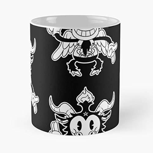 Baphomet Cute Lucifer Devil 30s Cartoon - Funny Gifts For Men And Women Gift Coffee Mug Tea Cup White 11 Oz.the Best Holidays. -