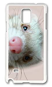 Adorable ferret Hard Case Protective Shell Cell Phone Ipod Touch 4 - PC White