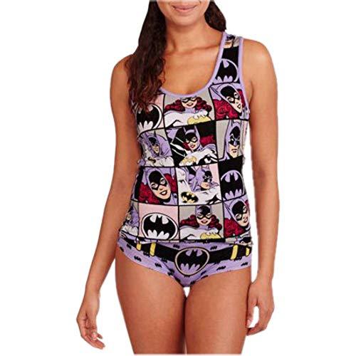 DC Comics Batman and Batgirl Women's Cami and Panty Set (L) -