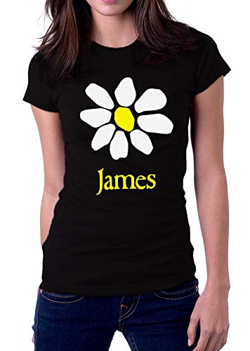 James Band Fresh As A Daisy Flower La Petite Mort Logo Women's T-Shirt XX-Large Black