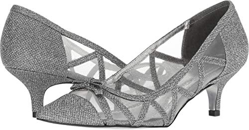 Pumps Metal Womens - Adrianna Papell Women's Lana Pump, Gunmetal Jimmy net, 7.5 M US