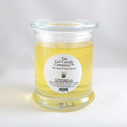 (Citronella Scented Gel Candle - 120 Hour Deco Jar )