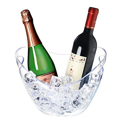 Agog - Ice Bucket Clear Acrylic 3.5 Liter Good for up to 2 Wine or Champagne Bottles Ice Bucket (16 count)