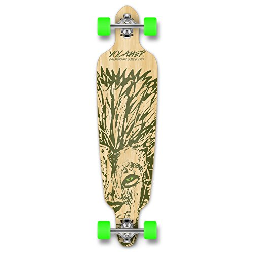 (Yocaher Spirit Lion Longboard Complete Skateboard Cruiser - Available in All Shapes (Drop Through))