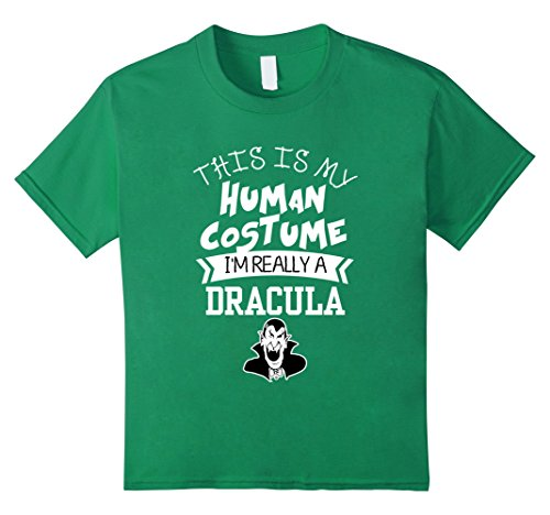 Dracula's Wife Halloween Costume (Kids This Is My Human Costume I'm Really A Dracula T-shirt 10 Kelly Green)