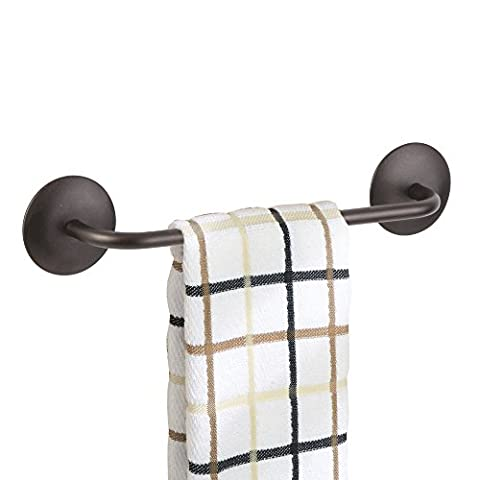 mDesign AFFIXX, Peel-and-Stick Adhesive Towel Bar Holder for Kitchen or Bathroom - 8.5
