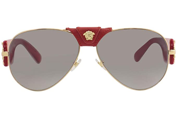 eb5e5a77e87d Amazon.com  Versace VE2150Q Sunglasses 100211-62 - Gold Frame