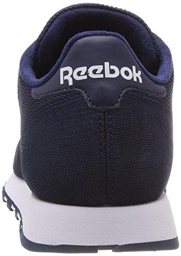 Reebok Uomo white Blu Leather collegiate Ultk Nav Sneaker Classic AwBAIqr