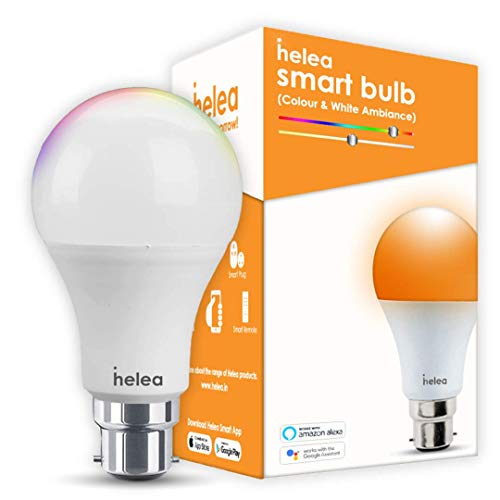 Helea 9 Watts Wi-Fi B22B Smart Bulb Compatible with Alexa & Google Assistant (Warm White, Pack of 1)