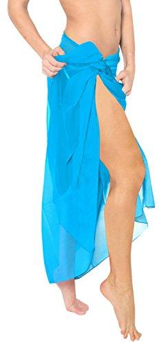 La Leela Badeanzug Resort Kleid Kreuzfahrt hawaiische Sarong Ebene uns 2x türkis vertuschen