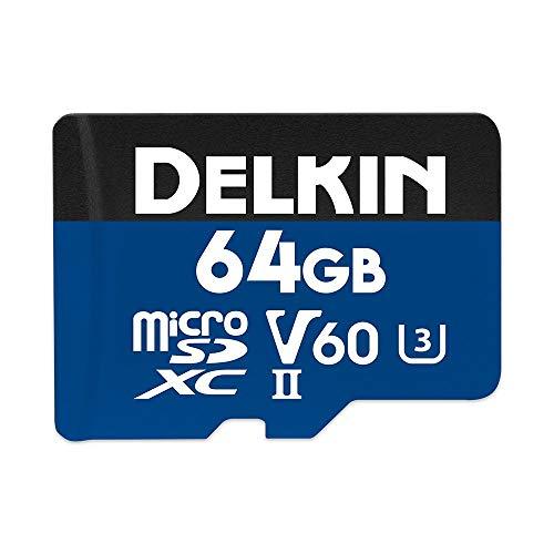 Delkin DDMSDB190064 Devices 64GB Prime microSDXC UHS-II (U3/V60) Memory Card (Renewed)
