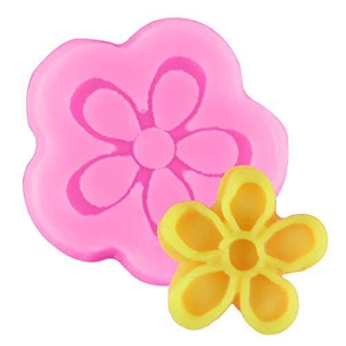 Bake Tool - Little Flower Silicone Mold Fondant Gift Decorating Chocolate Cookie Fimo Polymer Clay Resin Baking - Cakes Suppository Fashions Shapes Heart Hand Tartlets Cover Stamp Yard Cream Je]()