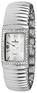 Peugeot Women's 7081S Spiral Link Silver-tone Expansion Bracelet Watch