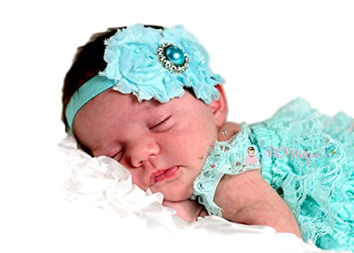 198b18a1b54a Baby Girl Petti Lace Romper and Headband Set