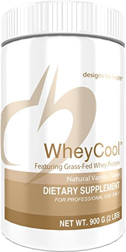 Designs for Health 23g of Grass Fed Whey Protein Powder in Vanilla – Whey Cool (2 lbs / 30 Servings)