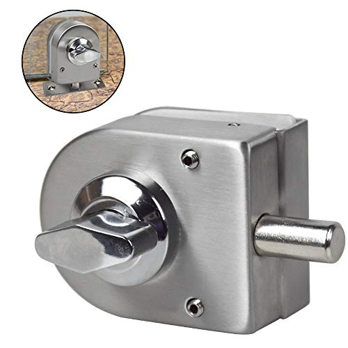 Glass Door Lock Latch Rotary Knob Stainless Steel Glass Door Open/Close Home Hotel Bathroom