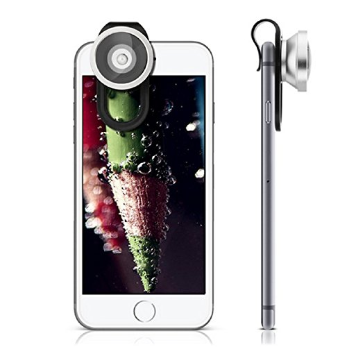 3 in 1 Macro/Fish-eye/Wide Universal Clip Lens (Silver) - 9
