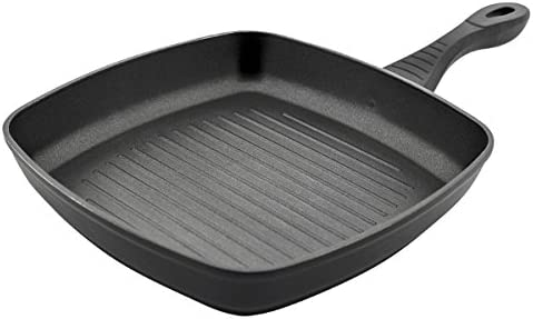 JATA Hogar Grill avec Corps en Aluminium forgé, Noir, 28cm