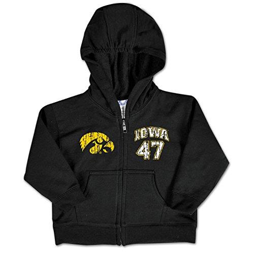 NCAA Iowa Hawkeyes Infant Zip Hood, 12 Months, Black