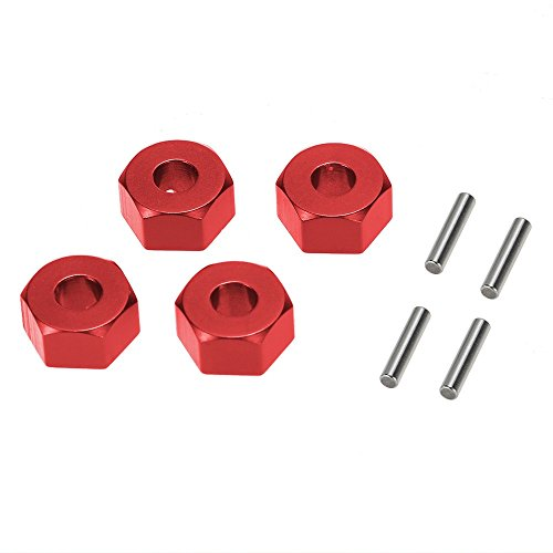 MagiDeal Set of 4 Pieces 12mm Wheel Hex Mounts with Stub Axle Pins for RC 1/10 Car Toys Traxxas Slash 4x4 Upgrade Part DIY (Stub Axle Pins)