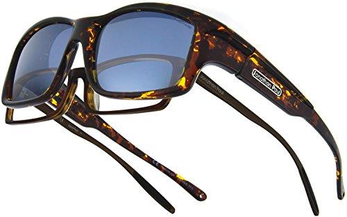 Fitovers Eyewear Yamba/Nagari Sunglasses (Dark Tortoiseshell, Polarvue - Extra Sunglasses Dark Prescription