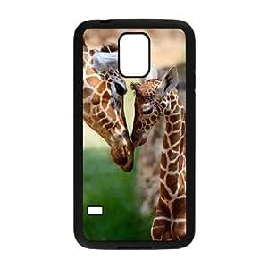 ALICASE Hard Shell Diy Case Giraffe Cover For Samsung Galaxy S5 i9600 [Pattern-2]