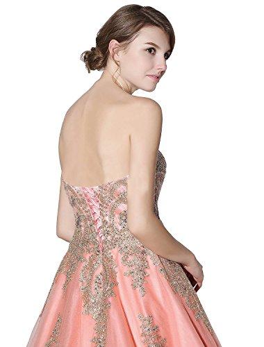 Herz Weiß Kleid Lang mit Perlen B Party Ballkleid Ausschnitt Erosebridal Abendkleider zdBzq