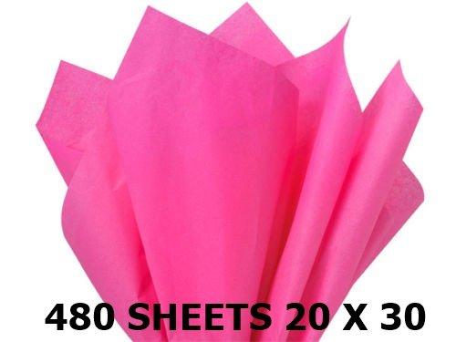 Shamrock Scalloped - PINK TISSUE PAPER 480 SHEETS 20 X 30