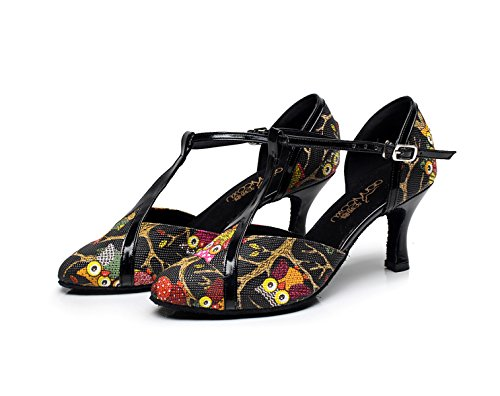 Moderne Tango heeled5cm Black Haut UK7 Our43 Latin Chaussures Talon Womens Salsa 5 JSHOE Dance Fermé EU42 Jazz Bout Sandales xw8vSR6q