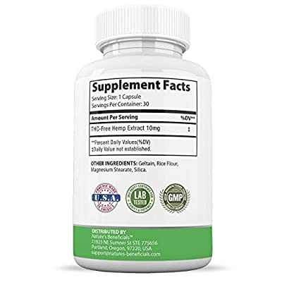 Organic Hemp Oil Extract Capsules 300mg - Ultra Premium Pain Relief Anti-Inflammatory, Stress & Anxiety Relief, Joint Support, Sleep Aid, Omega 3 6 9, Non-GMO Ultra-Pure CO2 Extracted by Nature's Beneficials