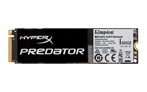 Kingston Digital HyperX Predator 480 GB PCIe Gen2 x4 M.2 Solid State Drive 3.5-Inch SHPM2280P2/480G