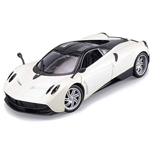 Wheel Zonda Front - SXET-Model car Model Car Die Casting Model Pagani Huayra Alloy Model Car 1:24 Model Kit Collection Model Toy Ornaments (Color : White)
