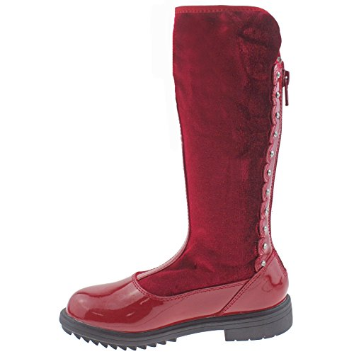 Lelli UK Magiche Diamante Red Kelly Alto LK7664 DD01 Chiara Vernice 29 Up 11 Zip Boots OqxgrCwfOX